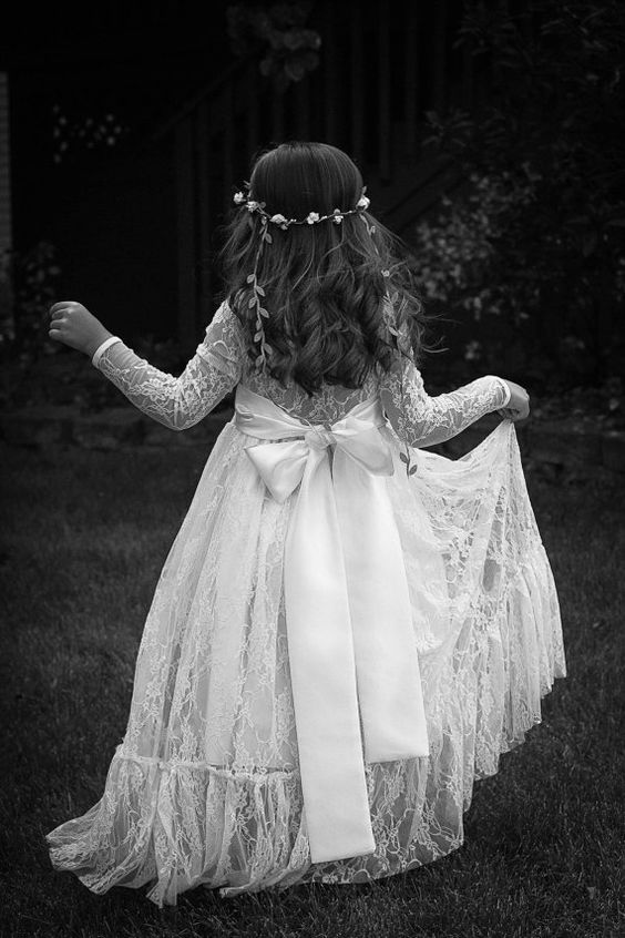 Really awesome Flower girl dress and hairstyles