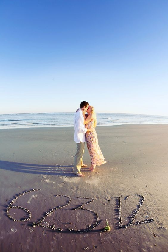 SAVE THE DATE! If I can't have my wedding on a beach I'm at least having my engagement pics taken on the beach!!