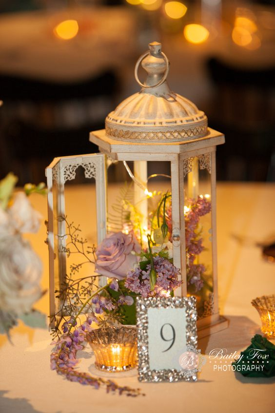 Table Centerpieces and Design Lantern centerpiece
