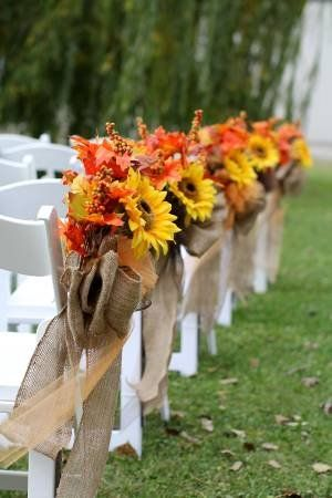 Aisle decorations for our october wedding weddinginclude wedding aisle decorations for our october wedding junglespirit Images