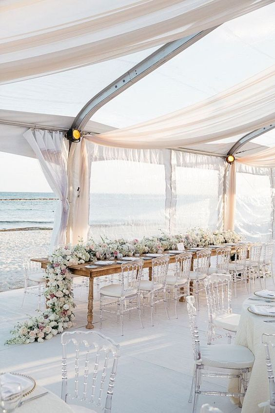 beach wedding reception ideas photo by Karlisch Photography