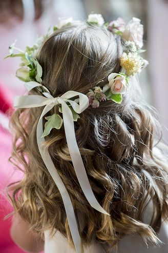 flower crown with British flowers for flower girls