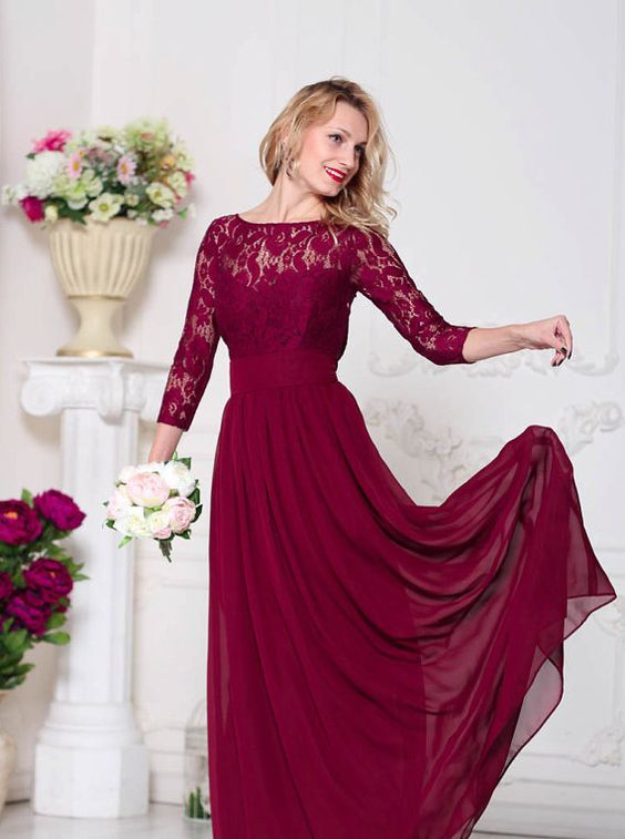 20 Breathtaking Burgundy Bridesmaid Dresses For Fall Page 3