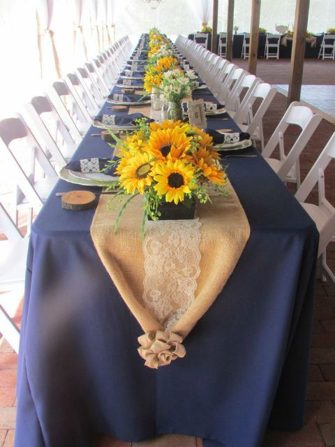 ... Navy+and+burlap+wedding+ideas Sunflower U0026 Burlap Inspiration
