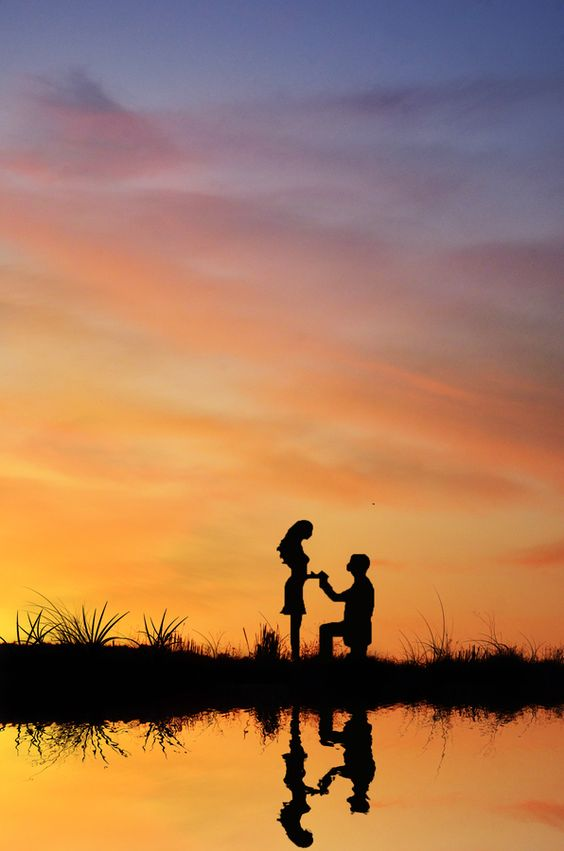sunset proposal photo ideas