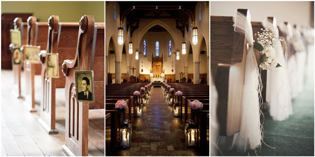 & 21 Stunning Church Wedding Aisle Decoration Ideas to Steal