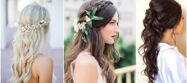 Half Up And Half Down Wedding Hairstyles | WeddingInclude | Wedding ...