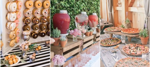 28 mouth-watering wedding food/drink bar ideas for your big day
