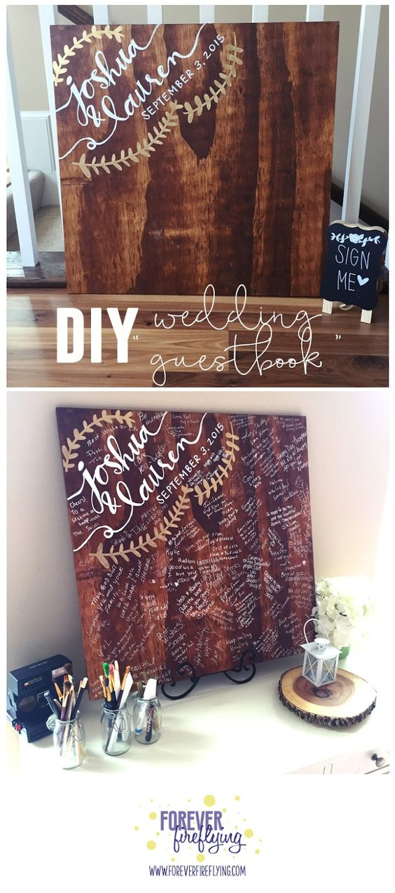 Affordable and fun DIY Wedding Guest Book Ideas