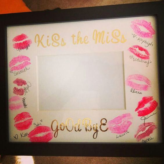 Bachelorette party idea. Kiss the miss goodbye by Katie Smith