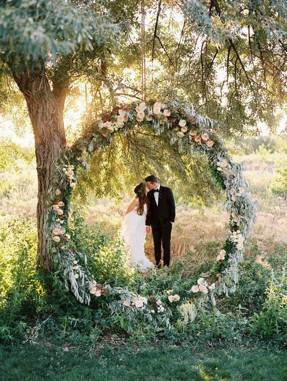 Backdrop wedding wreath Photography Leo Patrone
