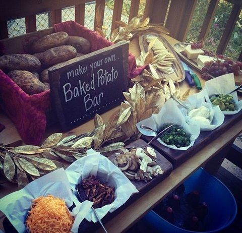Baked Potato wedding food bar