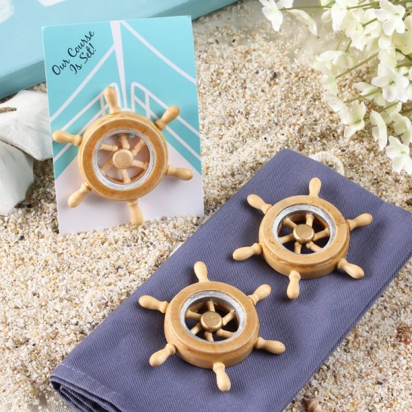 Unique Boat Wheel Magnet Favor for guests