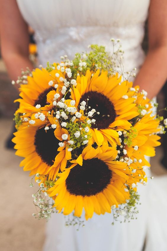 21 perfect sunflower wedding bouquet ideas for summer wedding bouquet flowers bride bridal navy yellow sunflowers brewery wedding junglespirit Images