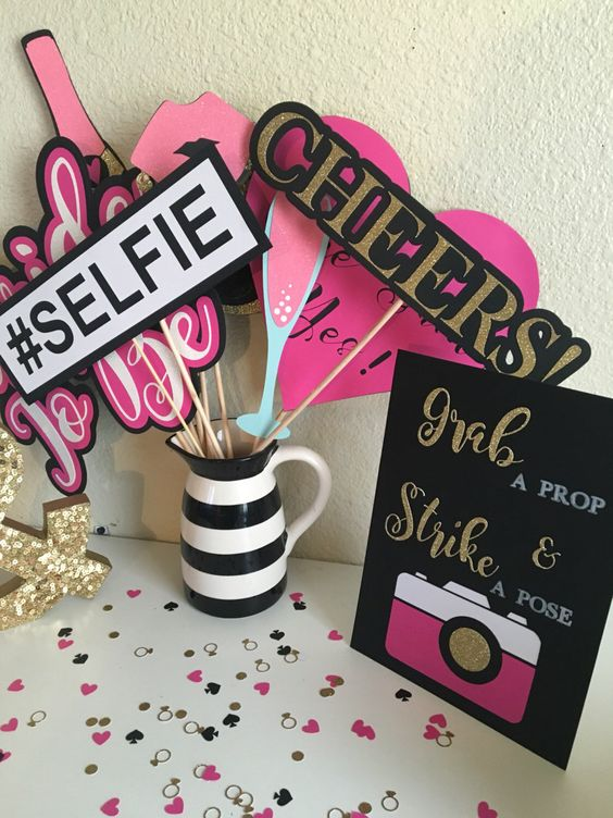 Bridal Shower-Bacheloette Party Photo Booth Props