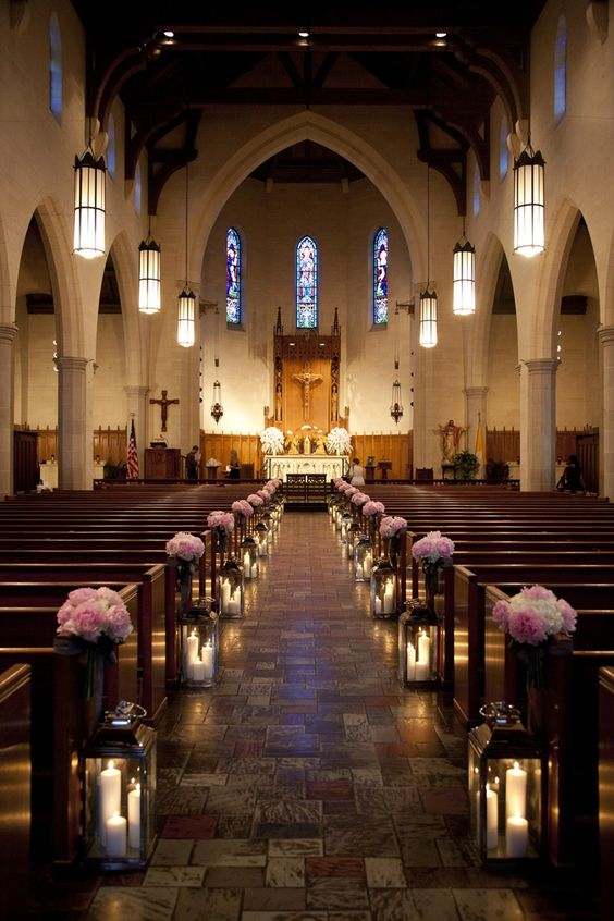 21 stunning church wedding aisle decoration ideas to steal church wedding photo via colin cowie weddings junglespirit Images