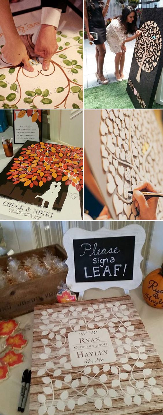 DIY tree guest book ideas