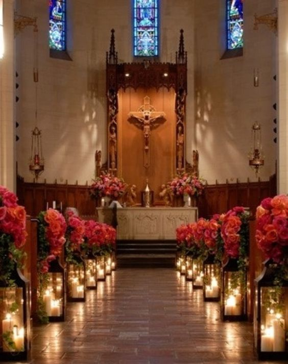21 stunning church wedding aisle decoration ideas to steal elegant church wedding decoration ideas archives junglespirit Images
