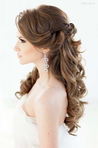 Elegant Half Up Half Down Wedding Hairstyles
