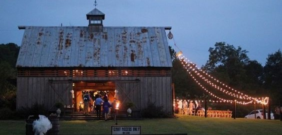 Fairly lights Rustic Outdoors Southside Wedding