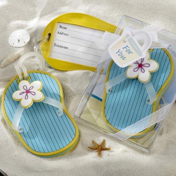 Flip Flop Luggage Tag for Beach Wedding