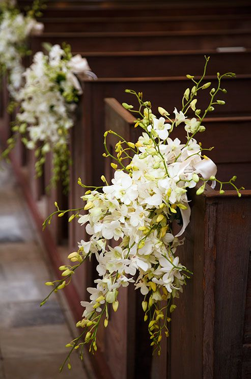 Flowers for the church wedding decorations