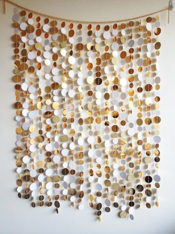 Glamorous gold and white photo booth backdrop