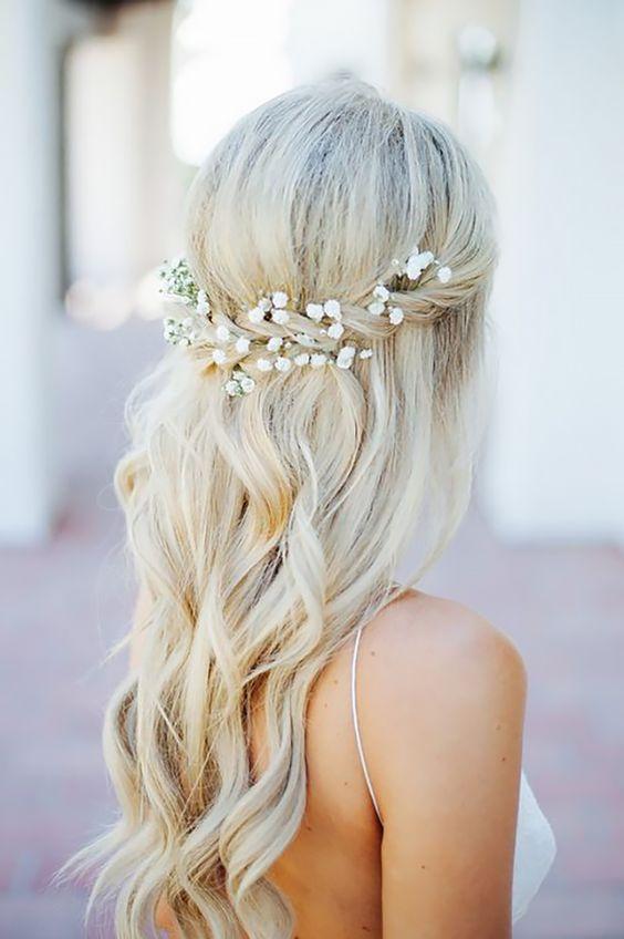Half Up Half Down Wedding Hairstyles Ideas
