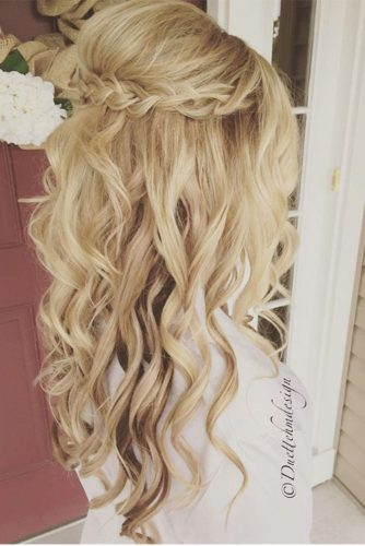 Half up half down wedding bridesmaid hair ideas trends