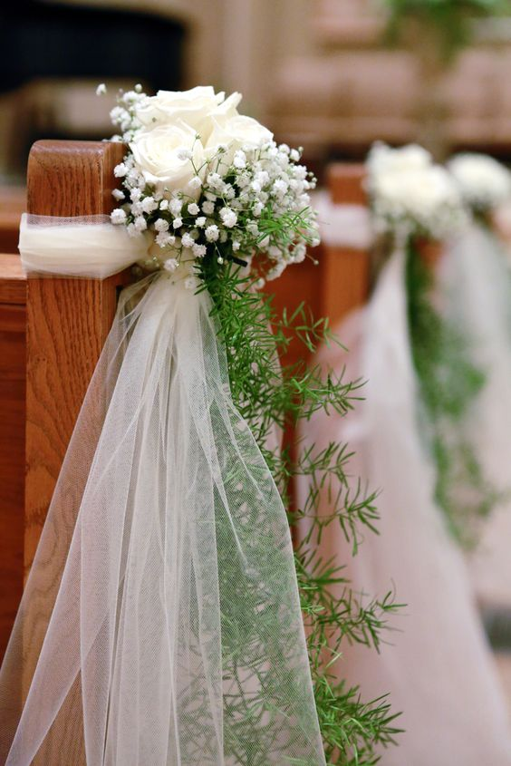 21 stunning church wedding aisle decoration ideas to steal for Aisle decoration for wedding