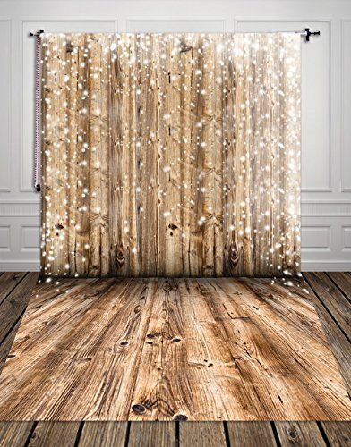 Led lights and wood backdrop