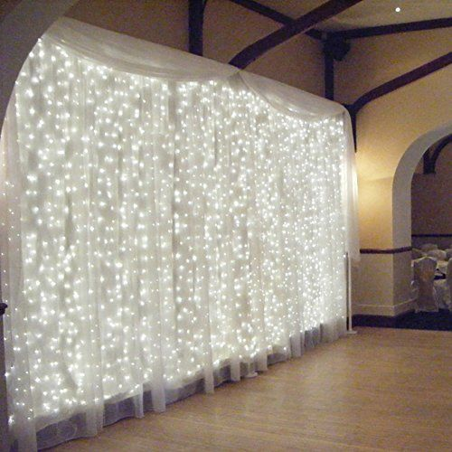 Let light and tulle wedding backdrop