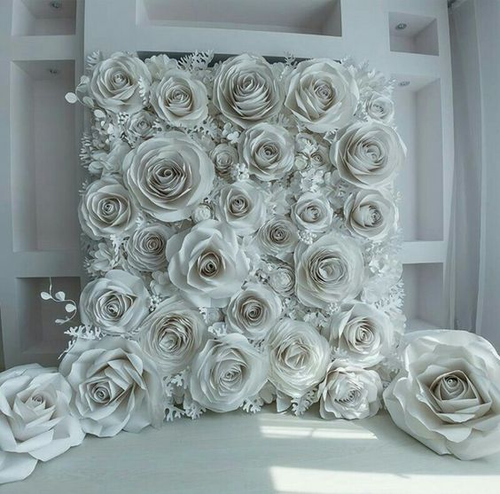 Paper backdrop for wedding