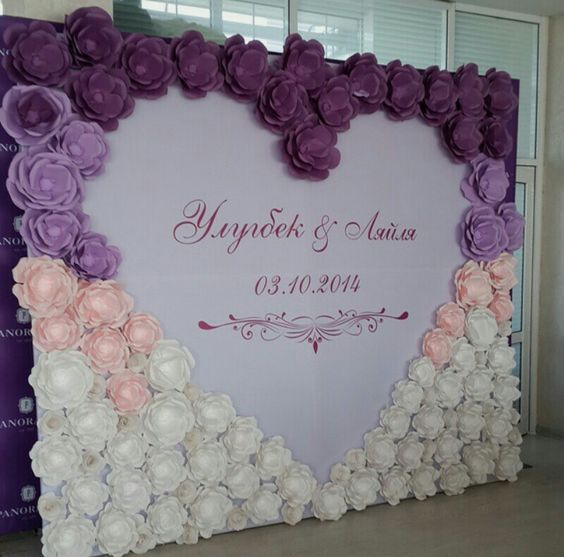 Paper flowers wedding backdrop Ideas