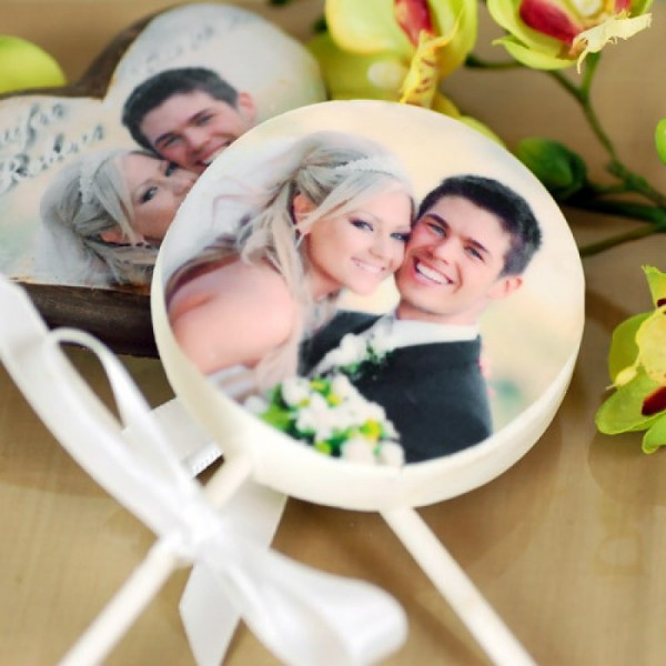 Personalized Chocolate Lollipops Wedding Favors