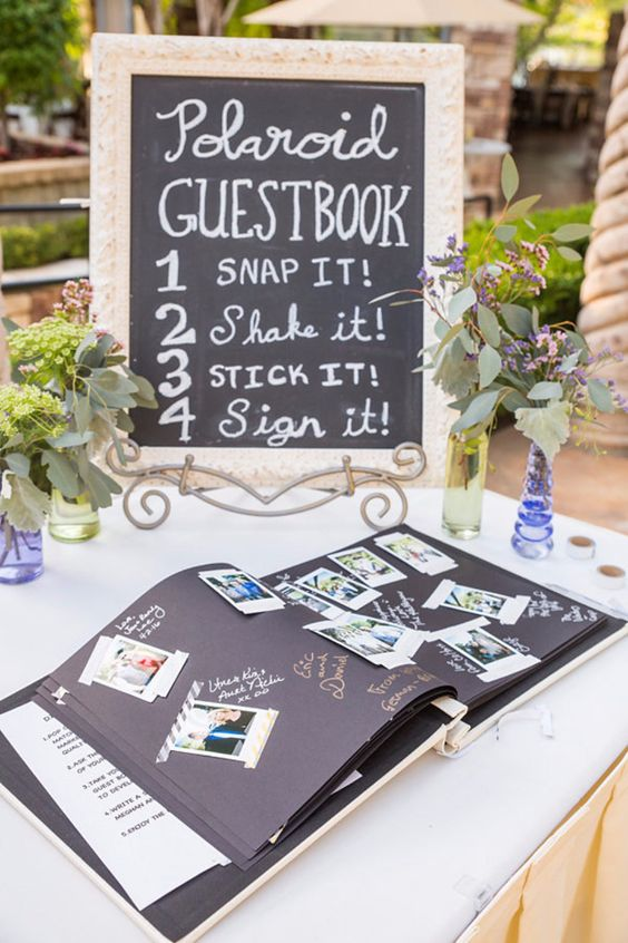Polaroid Inspired Unique Wedding Guest Book
