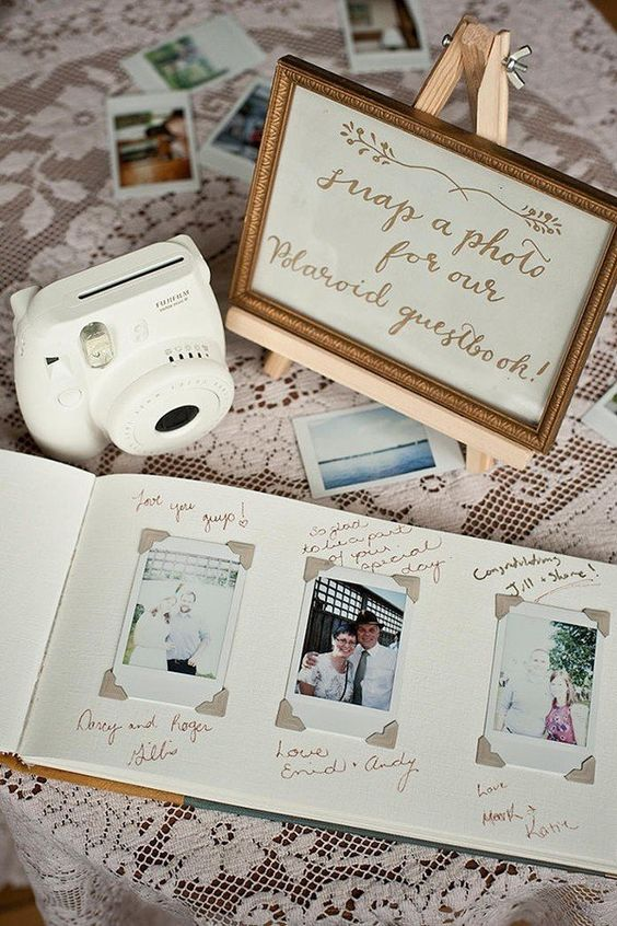 Polaroid wedding guestbook via mywedding