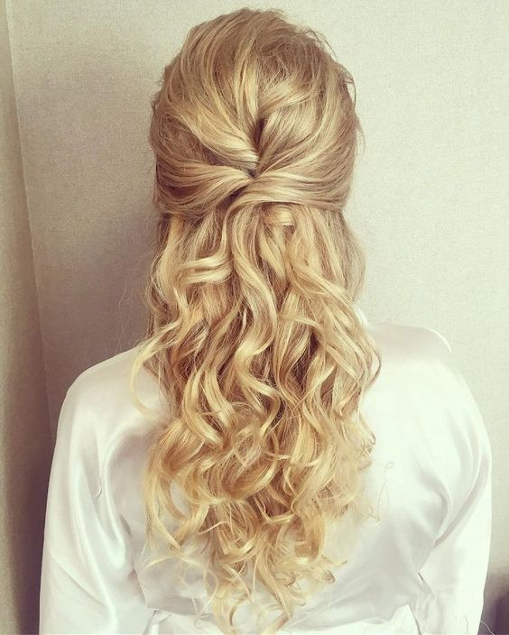 40 Wedding Hairstyles For Long Hair That Really Inspire: 22 Half Up And Half Down Wedding Hairstyles To Get You