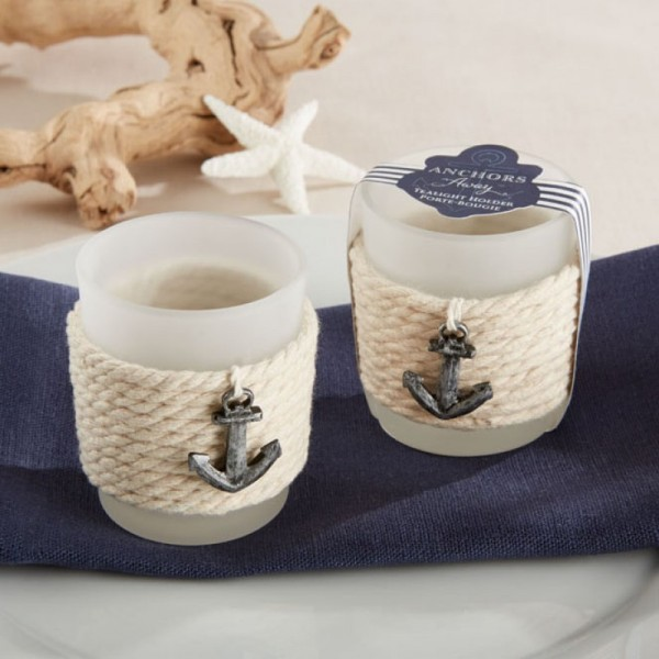 Rope Tealight Holders in beach themed wedding