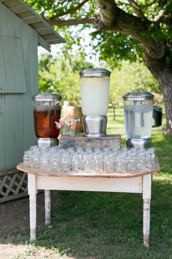 Rustic Barbecue BBQ Wedding Food Station Ideas
