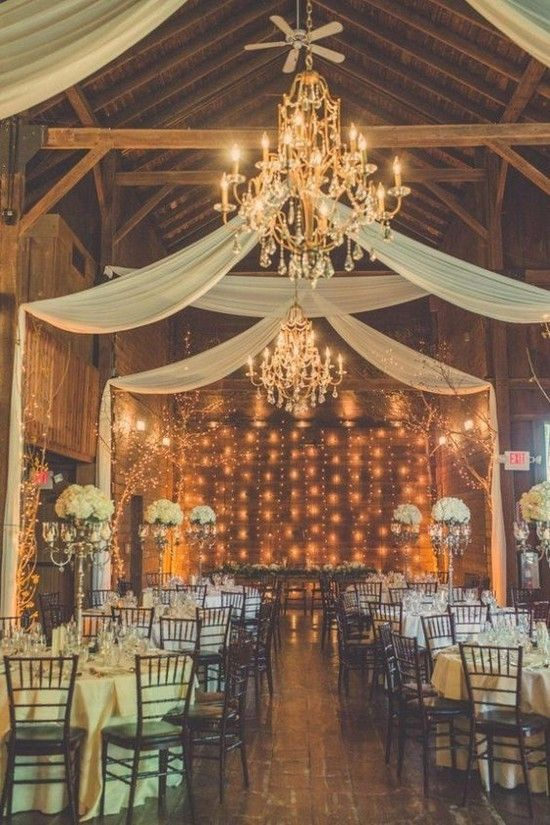 Rustic Barn Wedding Light Decor Ideas
