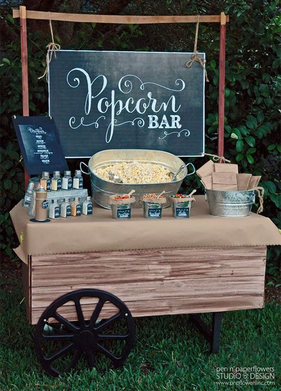 Rustic Outdoor Food Station Ideas