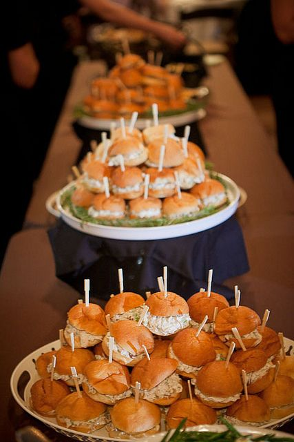 Simple and cost effective Wedding food station inspiration