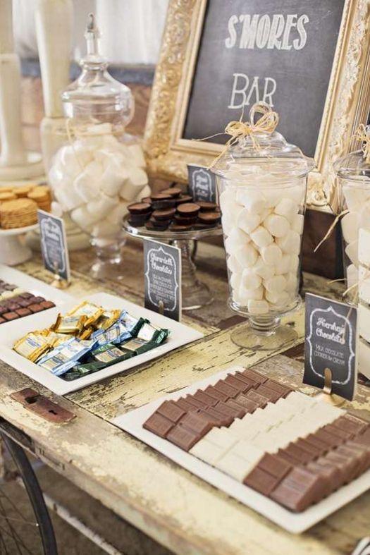S'mores bar Wedding Dessert Table Ideas