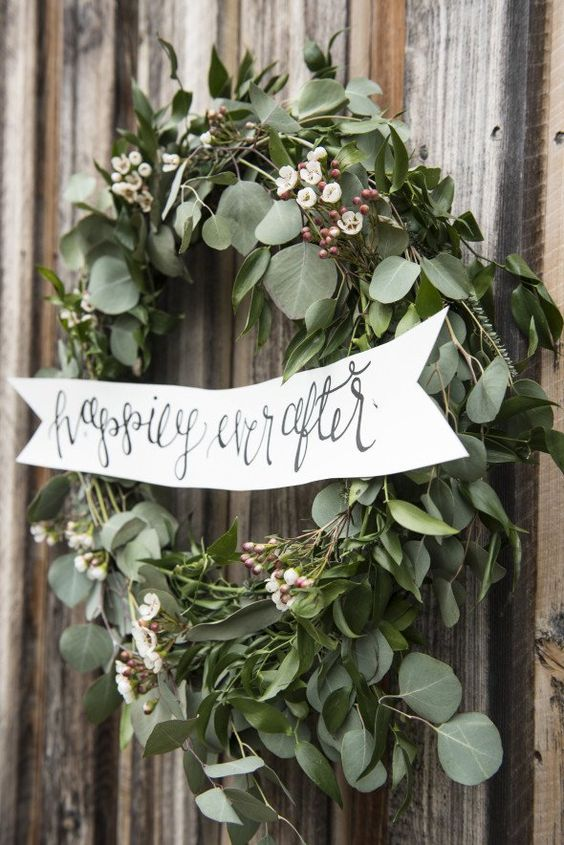 Stunning Greenery-inspired floral Wedding Wreaths