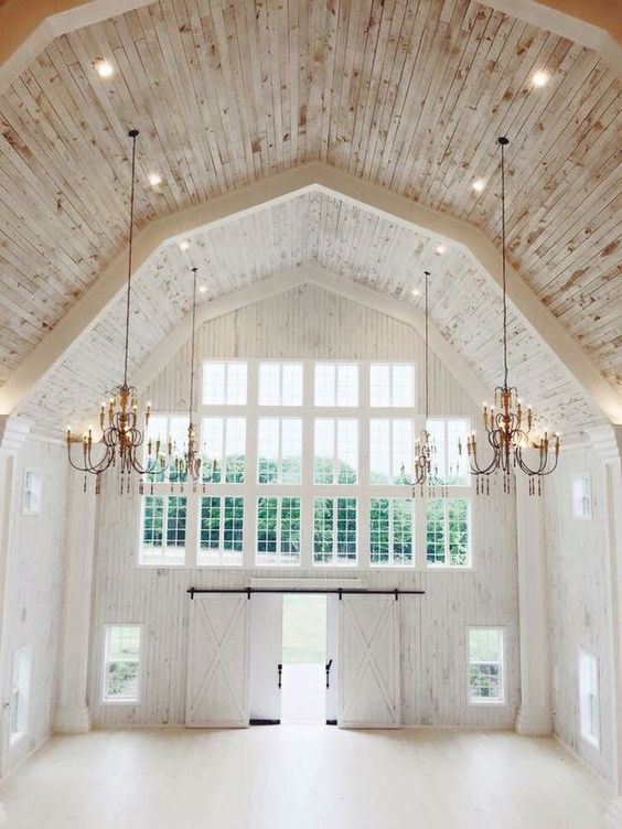 Such a beautiful elegant white barn Wedding venue