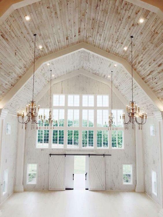 Such a beautiful elegant white barn Wedding venue
