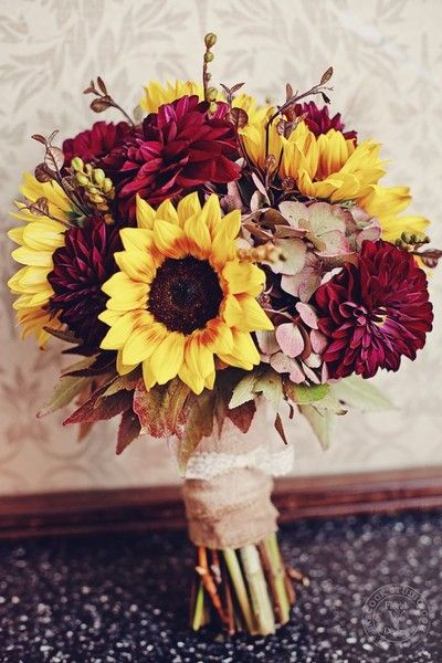 Sunflower Bouquets Wedding Flowers Photos on WeddingWire