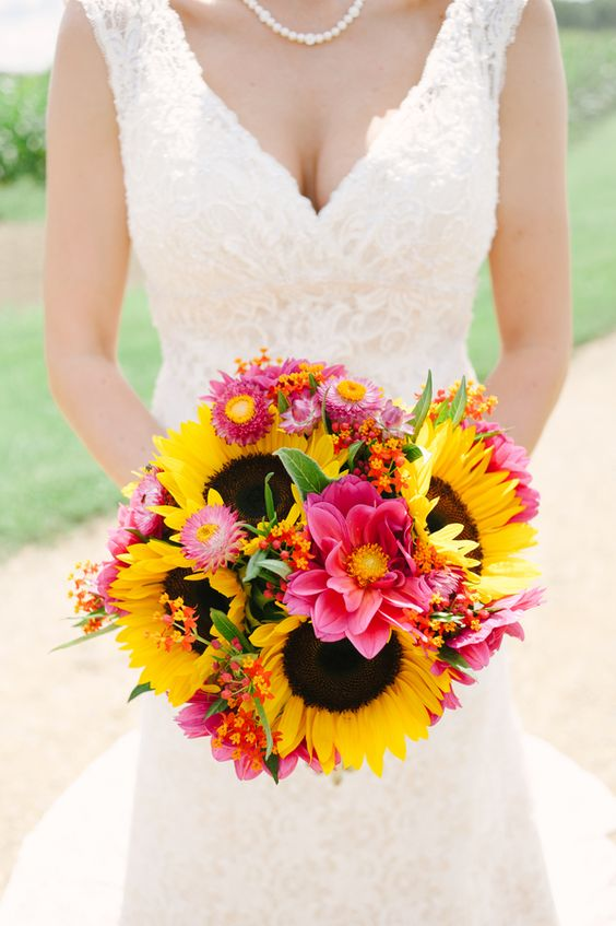 Sunflower Themed Wedding Bouquet