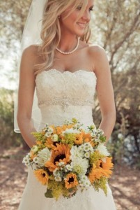 Sunflowers country wedding photo by carliestatsky